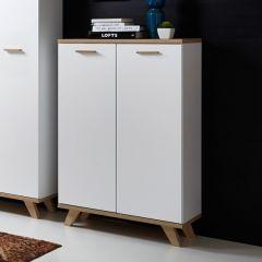 Boekenkast/Opbergkast Ousmane H122cm - wit