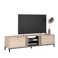 Meuble tv Iseka à 2 tiroirs - chêne