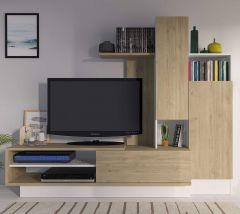 Tv-meubel Benno 200cm - eik/wit