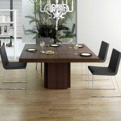 Eettafel Dusk 130x130 - bruin