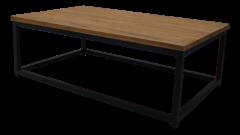 Table basse - 120x75 cm - teck  /  fer