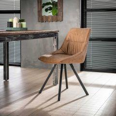 Set van 4 stoelen Veli - bruin