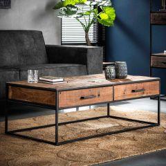 Table basse Florin 120x60 2 tiroirs - bois dur