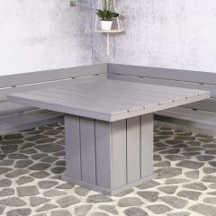 Tuintafel Brest vierkant 118x118cm - grijs