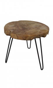 Table d'appoint Racine - naturel - teck racine bois