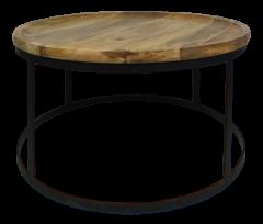 Salontafel Zen - naturel / zwart - mangohout