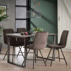 Table à manger 120 cm cadre 45 ° - 3D beton