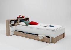 Lit enfant Fabio avec tiroir-lit et armoires de rangement