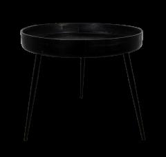 Table d'appoint Ventura - ø60 cm - noir - mangue / fer