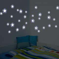 Muurstickers 3D Stars - Glow in the dark