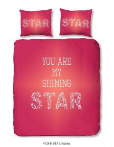 Dekbedovertrek Star Fuchsia 200x220cm