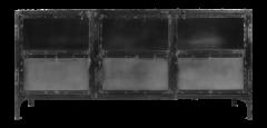 Dressoir Brooklyn - ijzer / glas - Natural Steel