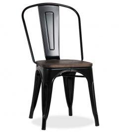Ensemble de 4 chaises Victoria - noir