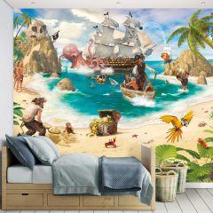 Kinderbehang Pirates and Treasure