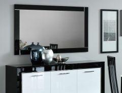 Spiegel Modena 140 cm - zwart/wit