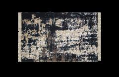 Vloerkleed - katoen - 180x120 cm - grijs / beige / blauw / goud