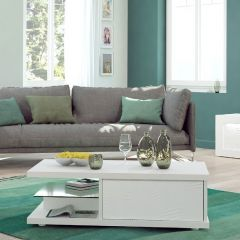 Table basse Kaia 120x60 - blanc brillant
