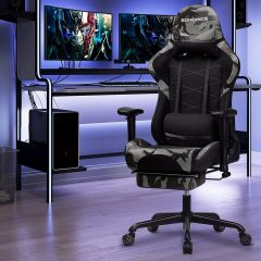 Chaise gamer Linx - noir/camouflage