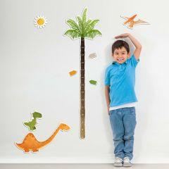 Muurstickers Dinosaurus met groeimeter