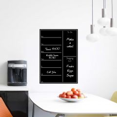 Sticker mural Shopping List - tableau noir