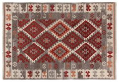 Kilim Zagros Red/Grey/Iv 300X200