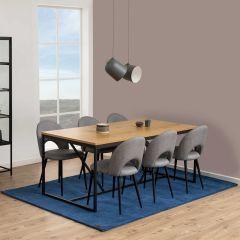 Table à manger Dover 180x90 - chêne/noir