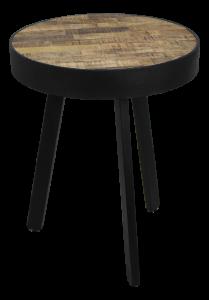 Table d'appoint Montréal - ø43 cm - bois de mangue / fer