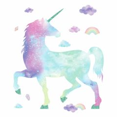 Muursticker Galaxy Unicorn