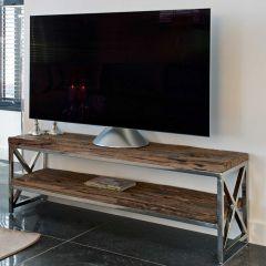 Tv-meubel Kensington 180cm - bruin/zilver