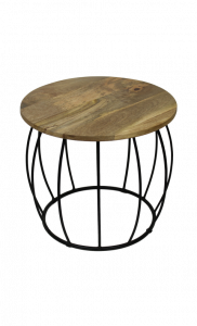 Table d'appoint Crown industriel - naturel / noir