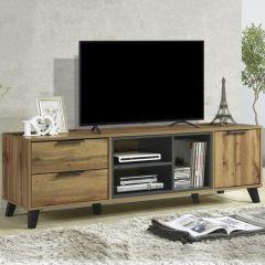 Tv-meubel Vitos 160cm met 2 lades en 1 deur - bruin