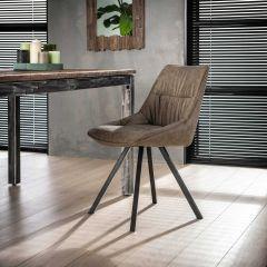 Set van 4 stoelen Veli - taupe