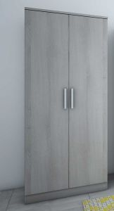 Kledingkast Ramos 80cm met 2 deuren - grijze es