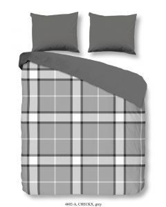 Dekbedovertrek Checkx Grey 140x220cm