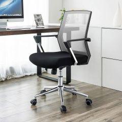 Chaise de bureau Nico - gris/noir