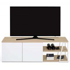 Tv-meubel Albi - eik/wit