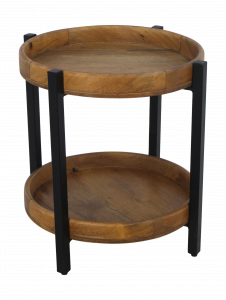 Table basse Hudson - 45x45 cm - bois de manguier / fer