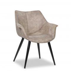 Set van 2 stoelen Milan - grijs