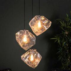 Suspension Rock 3 sources de lumière - transparent