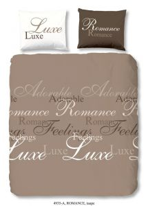 Dekbedovertrek Romance Taupe 140x220cm