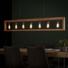 Hanglamp 7L modulo houten frame - Massief acacia naturel