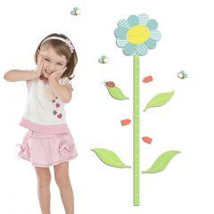 Muurstickers Smiling Flowers met groeimeter