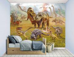 Papier peint enfant Dinosaur Land