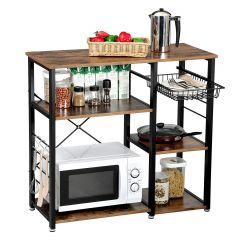 Keukenrek Valerio - bruin/zwart