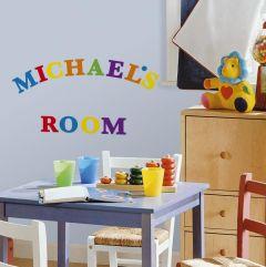 RoomMates muurstickers - Kleurrijke letters