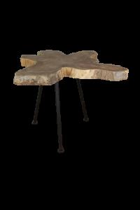 Salontafel Root - ø50-60 cm - oud teak / metaal