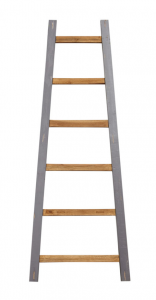 Decoratieve ladder Tangga - 150 cm - naturel / grijs - teak