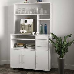 Keukenkast Cesar voor microgolfoven - wit