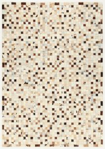 Tapis In Leather Patchwork 200x140 - beige