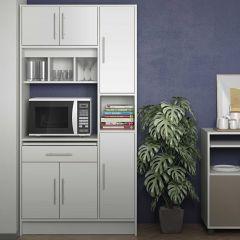 Armoire de cuisine Louise pour four à micro-ondes - blanc
